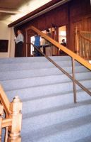 Staircase inside main entrance of Wasatch Ward Chapel